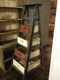 old ladders & drawers - rustic storage fix