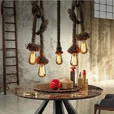 diy industrial lighting. diy handmade vintage pendant lights loft rope pendants lamps industrial edison lamp lustres de teto suspension diy lighting