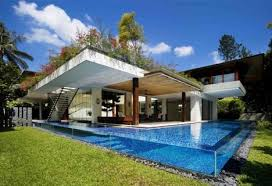 beautiful home pools. Brilliant Home House With Outdoor Patios Green Roof And Clearsided Pool Throughout Beautiful Home Pools M