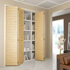 louver bifold door with plantation wide slats