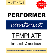 Performer Contract Template – Band Bios
