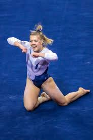 floor gymnastics splits. Utah State Gymnast Madison Ward Was Named The America First Credit Union  USU Student-Athlete Floor Gymnastics Splits D