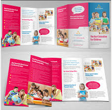 tri fold school brochure template brosur sekolah education school trifold brochure template contoh