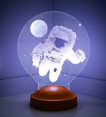 3 Boyutlu Astronot LED Foto Lamba