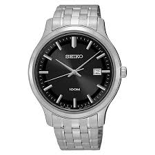 men s seiko watches h samuel seiko men s black dial stainless steel bracelet watch product number 3562840