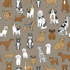 38+] Wallpaper with Dogs Printed on It ...