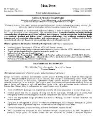 Resume Objective Example Program Management Resume Examples