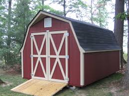 12x20 classic red barn gambrel roof shed