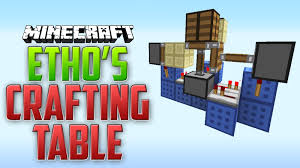 how to make a table in minecraft. Minecraft Ethos Hidden Crafting Bench Tutorial Quick And Table Bench: Full Size How To Make A In I