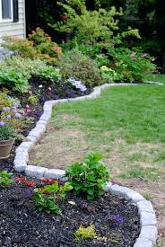 brick borders for landscaping stone edging ideas fancy brick landscape border garden edging ideas