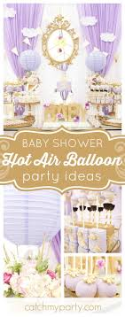 Vintage Hot Air Balloon Baby Shower Invitation  Party PrintablesVintage Hot Air Balloon Baby Shower