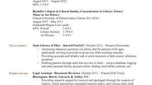 Resume Format For Librarian Library Science Resume Examples Public