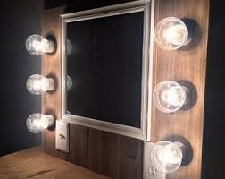 rustic lighted makeup vanity vanity mirror pallet reclaimed farmhouse furniture home