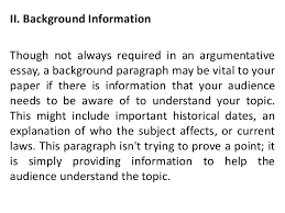 argumentative speech 9 ii background information