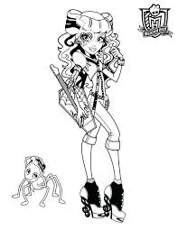 Monster High Color Page Monster High Coloring Page Monster High