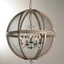 wood and crystal chandelier baroque bead rustic
