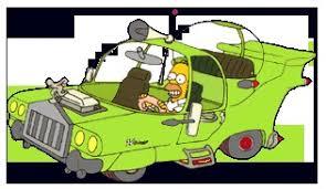 Image result for homer simpson car