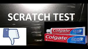 toothpaste scratch test fail with car