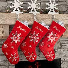 velvet christmas stockings. Brilliant Stockings Buy Personalized Red Velvet Christmas Stockings With Our Seasonu0027s Sparkle  Snowflake Design  Free Personalization See More  To T