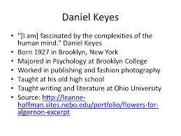 flowers for algernon a short story by daniel keyes sources for  2 daniel