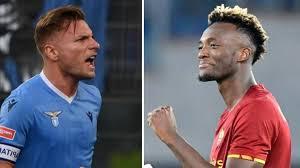 Derby Lazio-Roma, Immobile contro Abraham, nuova sfida tra Italia e  Inghilterra - La Gazzetta dello Sport