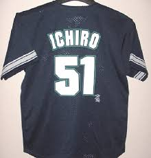 Details About Ichiro Suzuki Seattle Mariners Jersey Youth Large Navy Dynasty Mlb