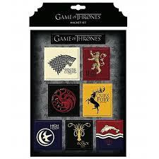 Game Of Thrones Stark House Crest Wooden Plaque Game of Thrones House Magnet Set Dark Horse Game of Thrones 85