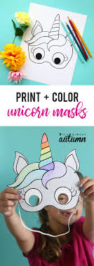 Unicorn Masks To Print And Color Free Printable It S Always Autumn