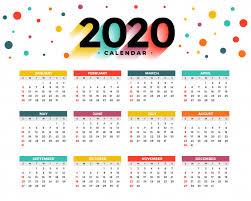 2020 calandars 2020 calendar vector free download