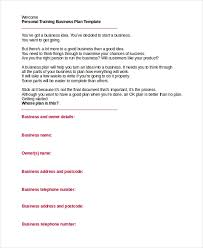 Personal Trainer Business Plans Business Plan Template For Personal Trainer 20 Business Plan