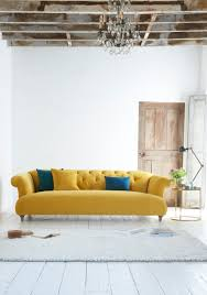 Yellow Living Room Furniture Loafs Deep Buttoned Dixie Chesterfield Sofa In A Bright And Sunny
