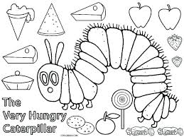 Very Hungry Caterpillar Coloring Pages And Crafts Royaltyhairstorecom