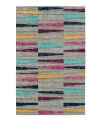 gray red geometric zuma beach indoor outdoor rug