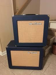 1x15 Guitar Cabinet De Lisle Custom Guitar Cab Navy Blue 115 1x15 Small Boutique Reverb