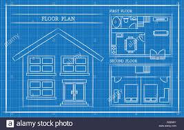 House Plan And Design Blueprint Blueprint House Plan Architecture Stock Vector Art