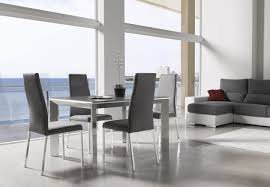 Modern High Back Chairs For Living Room Kitchen Elegant Contemporary Furniture Of Kitchen Table Set With