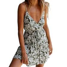 Kangma Women Mini Sleeveless Adjustable Strappy Summer