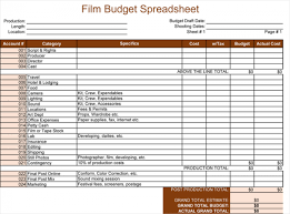 Film Template For Photos Film Budget Template For Excel 5 Spreadsheets
