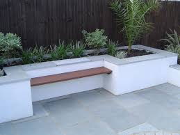 floating bench stone capped rendered