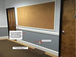 office cork boards. Help With New Office...what To Do About This Huge Cork-board Wall. Office Cork Boards