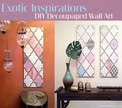 how create diy decoupage wall art on diy stencil canvas wall art with diy decoupage wall art with a flair for the exotic paint pattern