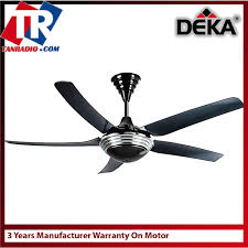 deka ceiling fan 56 inch blades metal remote control with surge protector