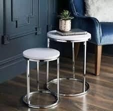 shiny chrome legs coffee side table