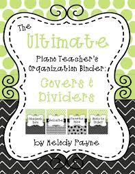 Teacher Binder Templates The Ultimate Piano Teachers Organization Binder Covers Dividers