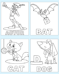 Small Picture Preschool Coloring Pages Alphabet AZ Coloring Pages within Abc