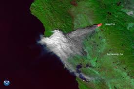 California fire: Satellite image shows Camp Fire smoke over Bay Area ...
