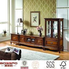 french style glass solid oak tv stand antique style tv unit gsp15 013