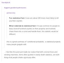 How Many Deaths A Year From Vending Machines Awesome Lies Damned Lies And Statistics Tumblr