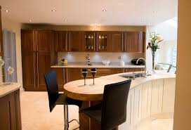 ... Engaging Image Of Kitchen Decoration With Small Wooden Kitchen Bar :  Amusing Modern Wooden Kitchen Decoration