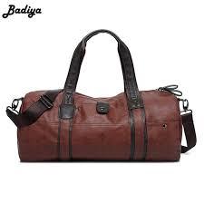 leather handbag cylindrical travel large capacity bag black solid zipper pouch lazy shoulder tote male with large leather coach tote with zipper